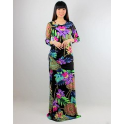 'Fabulous Mom Lady Lara Nursing Dress (Black Fantasy)'
