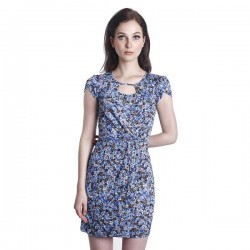 Fabulous Mom Chantal Nursing Dress (Blue)