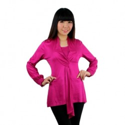 Fabulous Mom Laila Executive Nursing Blouse (Metallic Pink)