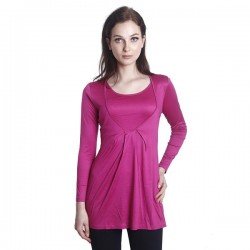 'Fabulous Mom Laila V Executive Nursing Blouse (Metallic Pink)'