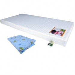 "Bumble Bee Latex Baby Mattress 24x48x3"" with Fitted Crib Sheet"