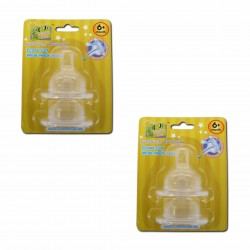 Bumble Bee X Cut Wideneck Teat Twin Pack - L