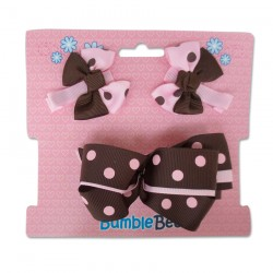 Bumble Bee Hair Clips Set (Coffee) (XLA0035)