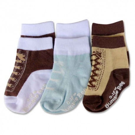 Bumble Bee 3 Pairs Pack Boy Shoelike Lovely Socks