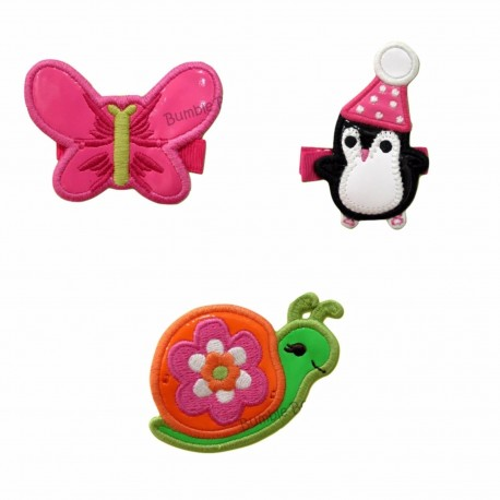 Bumble Bee Elegant Hair Clips (3 packs)  Design 2