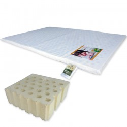 """Bumble Bee Latex Playpen Mattress 26x38x1"""" with Fitted Playpen Sheet"""
