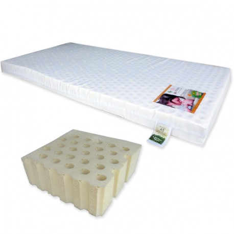 """Bumble Bee Latex Baby Mattress 28x52x2"""" with Fitted Crib Sheet"""