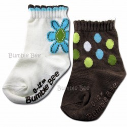 Bumble Bee 2 Pair Pack I Am Free Socks (S0062)
