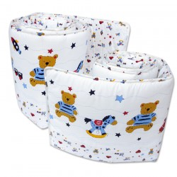 Bumble Bee 2pc Cot Bumper (Knit Fabric)