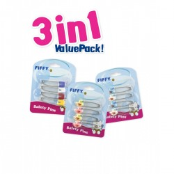 Fiffy Baby Safety Pin (3 In 1 Value Packs) - A1999VP