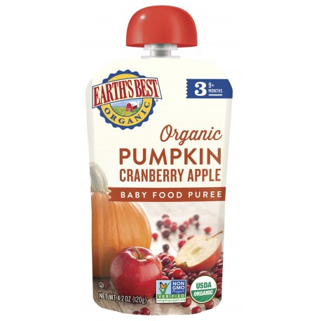 Earth's Best Organic Pumpkin Cranberry Apple Puree (6mth+)