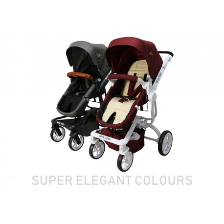 2 In 1 Magestic Princess Kids Dolls Pram Carrycot Stroller Buggy Baby Carrier