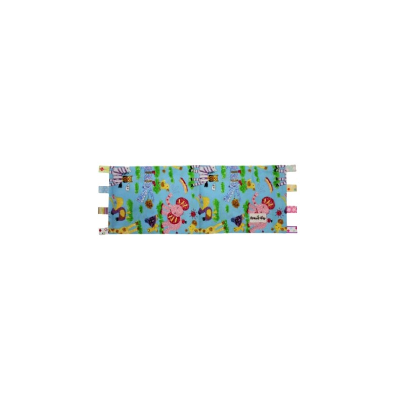 Beanie Nap Pillow Cover With Taggies Blue Zoo Nursery