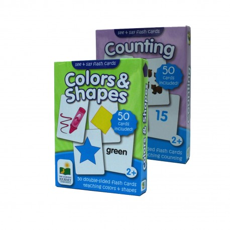 TLJI See & Say Flashcards set (Colors & Shapes + Counting)
