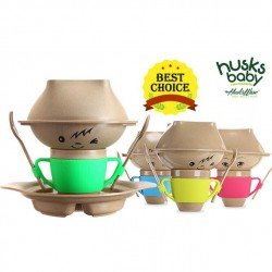 Rice Husk Baby Creative Set (7 pcs) (Husk's Junior) - Yellow