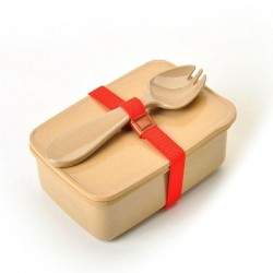 Rice Husk Lunch Box (S) + Spork + Ribbon