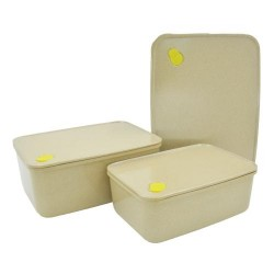 Rice Husk Vacuum Rectangular Storage Container (3 in 1) Set