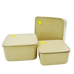 Rice Husk Vacuum Square Storage Container (3 in 1) Set