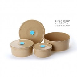Rice Husk Vacuum Round Storage Container (3 in 1) Set