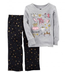 Carter s 2-Piece Ballerina Cotton   Fleece PJs (357G317)  e3d376774
