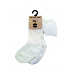 Akarana Baby Winged Socks (White)