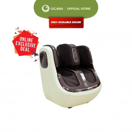 OGAWA Omknee Plus Air Pressure, Shiatsu and Kneading Feet and Calves Massager with Heat (Espresso)