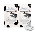 Basilic Orthodontic Soother White Medium - 2 Pieces