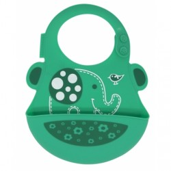 Marcus & Marcus Silicone Baby Bib (Green Ollie)