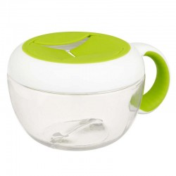 OXO TOT Flippy Snack Cup with Travel Cover - Green