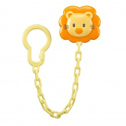 Simba Pacifier Holder - Chain Type Yellow