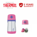 Thermos 0.29L Foogo Vacuum Insulated Straw Bottle (BS535PK)-Pink