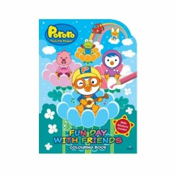 Pororo Toys  Fun Day with Friends Colouring Book With Stickers