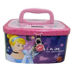 Disney Princess Impossible Coin Bank with Lock