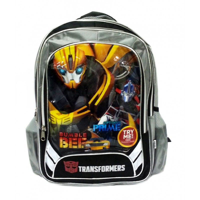 Transformers Bee Amp Prime School Bag With Flashing Light