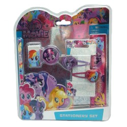My Little Pony Movie 6Pcs Stationery With Hair Clip Set