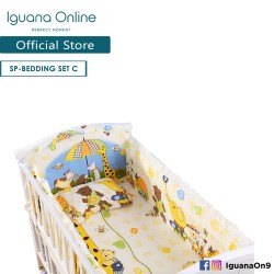 Iguana Online 100% Cotton Baby Soft Crib Bedding Set Sheet Head Neck Body Support Pillow For WCT138 and WCT118 (Giraffe)