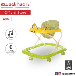 Sweet Heart Paris Baby Walker BW116 (Yellow) With Music and Height Adjustable'