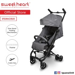 Sweet Heart Paris Cabin Size Stroller Gracieux (Dark Grey) with Self Standing\''