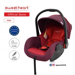 'Sweet Heart Paris CS322 Car Seat cum Carriage (Rubine Red) - 2019 Edition'
