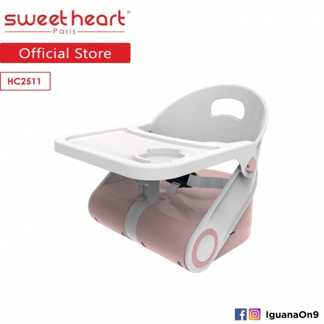 Sweet Heart Paris Portable Foldable Travel Feeding Dining Booster