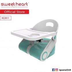 Sweet Heart Paris Portable Foldable Travel Feeding Dining Booster High Chair HC2511 with Food Tray (Teal)