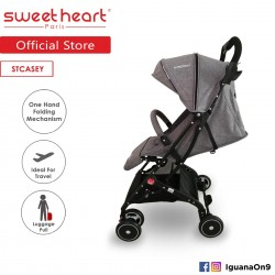 Sweet Heart Paris Stroller Compact ST CASEY(Grey) with Pull-up Luggage Handle\''