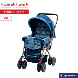 'Sweet Heart Paris ST49 Stroller (Blue) with Reversible Handlebar'