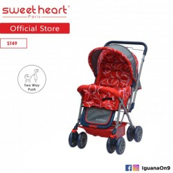 'Sweet Heart Paris ST49 Stroller (Red) with Reversible Handlebar'