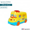 Iguana Online School Bus Cartoon Animal Doll Baby Educational Toys with Music (Yellow)