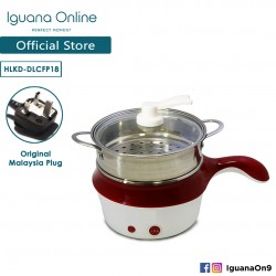 Iguana Online 18CM Mini Multifunction Stainless Steel Electric Cooker Steamer Pot Frying Pan