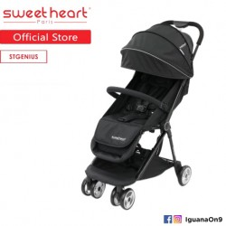 Sweet Heart Paris St Genius Compact Fold Stroller with Aluminum Frame (Black)