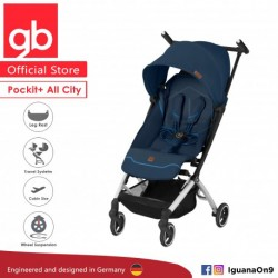 gb Pockit Plus ALL CITY World Lightweight Cabin Size Stroller with Reclining Seat (Night Blue)