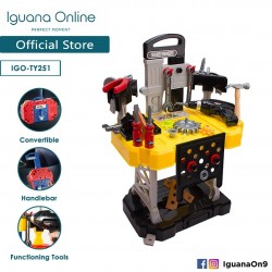 Iguana Online Transformer 56 Pieces Portable Multifunctional learning Tools Workbench for Kids TF251 (Yellow)
