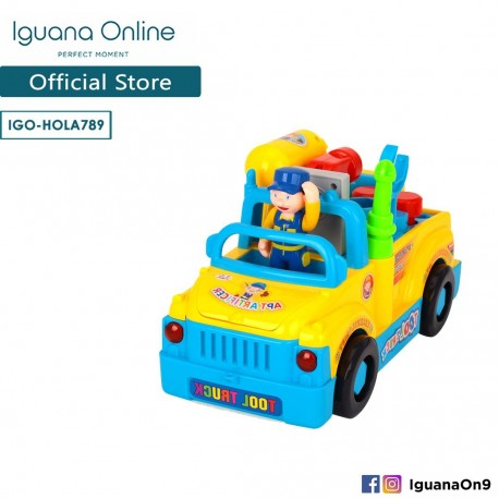 Iguana Online Interactive Mechanical Toy Tool Truck with Functional Learning Tools for Kids HOLA789